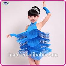 China Manufacturer High Quality Girls Tassel Latin Fancy Dress Costumes
