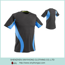 2014 High Quality Dry Fit Polyester O-Neck Brand Sports T Shirt For Men