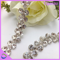 BEST PRICE!! Crystal Rhinestone Chain Links for shoe decoration