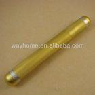 Golden Aluminium cigar holder, metal cigar tube