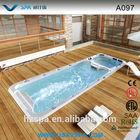 Portable Rectangular Fiberglass Swimming Pool A097 with Massage Jets