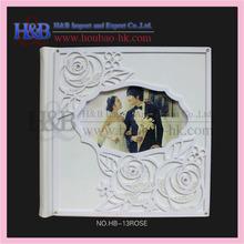 H&B Wholesale 12*12 White Acrylic Wedding Album Cover Design