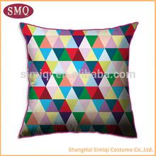cheap hot sale pillow case customed design cushion cover chevron decorative screen printing