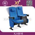 kumaş ticari mor deri ve krom ev deri tiyatro sandalyeler