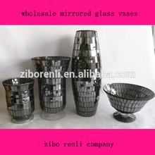 European Classic Handmade Mosaic Vintage Cheap Wholesale Mirrored Glass Bowls Vases