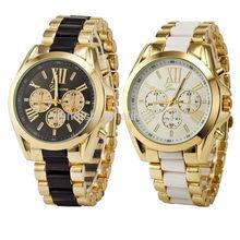 Geneva Stainless steel Alloy Couple models Men/Boy/Lady Quartz Sport Wrist Watch