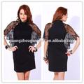 2014 nova moda gola alta mulheres laço preto capa de coquetel vestido de festa curto made in china baratos preço de fábrica alta qualidade