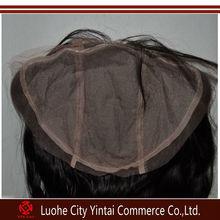 Russian Fede Coarse Natural Wave Natural Color Silk Top Human Hair Lace Frontal Closure