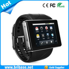 Latest wrist Android 4.0 Smart touch screen 3G watch bluetooth WIFI mobile phone with video call