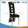 baixo preço de couro de alta volta cadeira de jantar com pintura cinza