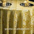 Nuevo diseño amarillo del banquete de boda texitile cubierta de tabla / paño de tabla / de xuhai de la fábrica textil con buen precio