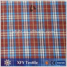 hangzhou XFY cheap price yarn dyed cotton fabric for shirts