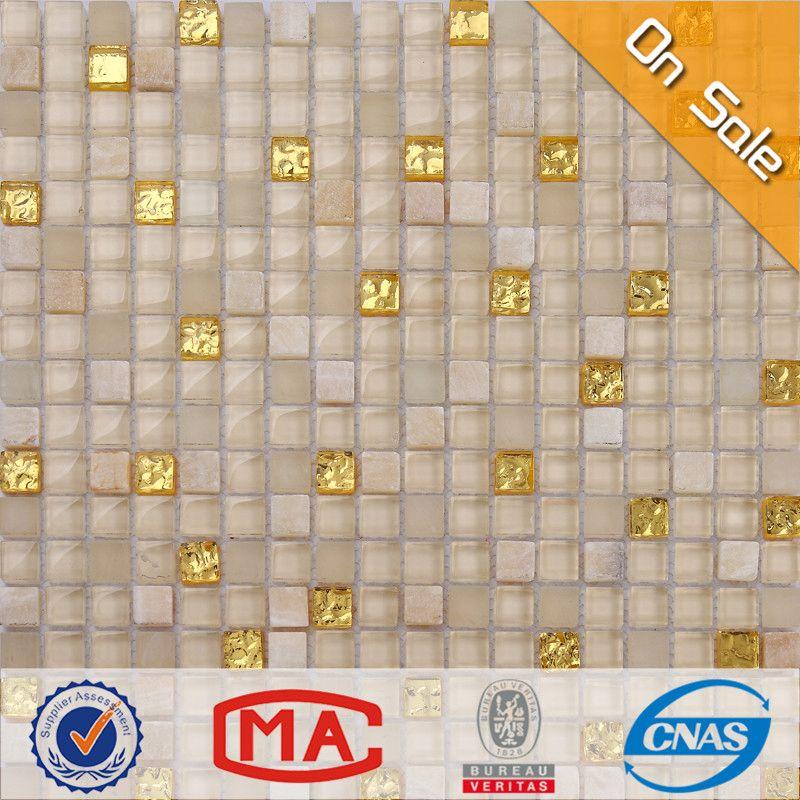 Hfjtc 1305 decorativos azulejos de mosaico de vidrio - Ladrillos decorativos para exteriores ...