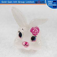 Cell Phone Cute Rabbit Dustproof Plug,3.5mm animals earphone jack plug