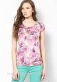 La impresión general de ropa formal para blusa de las señoras/florales impresos formales blusas de desgaste