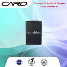 excellent midlle range 8ohm 250W 10intch studio speakers