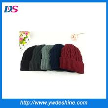 thicken ski cap knit man hat MZ559