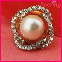 elegant pearl rhinestone button for dress WBK-1314