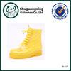 Cheap Yellow High Top Rubber Rain Boots Women's Soft Rain boots Over Shoe Waterproof Shoes Sale Unisex boots B-817