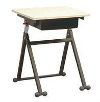 Wooden school furniture adjustable modern student desk