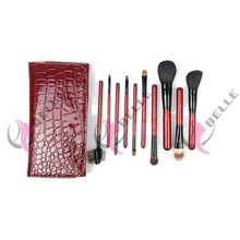 best makeup brush Manufacturer 10pcs make up brush set /cosmetics brush with pouch