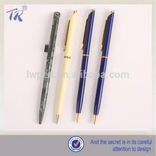 Promotional Hotel Pen Metal Twist Ball Pen Slim