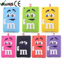 Sweet m&m's chocolate skin case for Ipad mini cover silicone