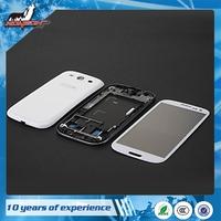 For samsung S3 i9300 Full Mobile Housing Cover Case+Outer Screen Glass