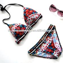Good fabrics and fine artwork Women's trangle Women's sexy extreme swimsuit