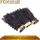 100% unprocessed brazilian virgin deep wave 6a grade queenlike human brazilian hair bundles
