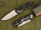 8Cr13 stainless steel black G10 handle folding knife survival knife hunting knife UDTEK01971