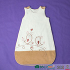 cotton/polyester baby sleeping bag with embroidery