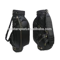 Hot Sale Black Unique Top Quality PU Leather Golf Staff Bag