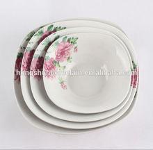 Venda quente praça salada tigela de porcelana