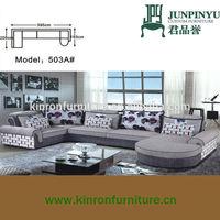 Foshan factory supplying free combination modern fabric shaped l sofa 1+3+chaise