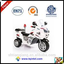Three wheel white electric motorcycle car