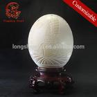HOT sale business gifts handicraft Ostrich egg shell craft