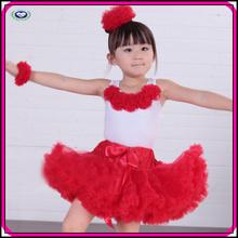 Hot selling girls tutu dress kids girls princess red ballet dance tutu dress
