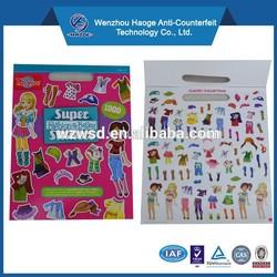 Removable sticker book,sticker book printing, chhildren sticker book