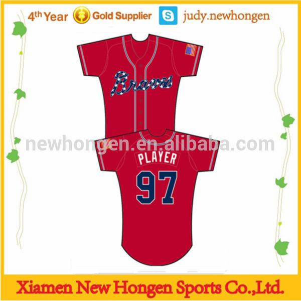 Baseball Jersey no Buttons Button Down Baseball Shirt