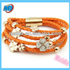 leather bracelet clasp fashion leather bracelet for ladies fashion jewelry