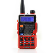 handys baofeng two way radio UV-5RE plus red color dual band uhf vhf walkie talkie