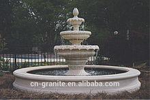 three tier granite outdoor water fountain
