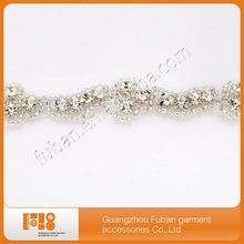 beautiful crystal rhinestone trimming for garment decoration
