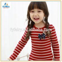 wholesale o neck cotton printing long sleeve children custom t- shirt