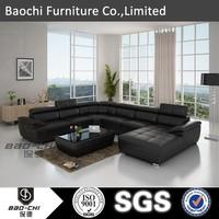 Low price modern U-shaped leather sofa sale johor bahru C1128