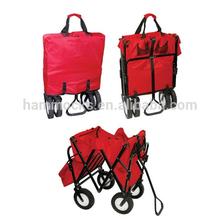 Aluminum Beach Cart, Folding Cart with Wheels