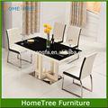 mobiliário moderno home moldura de aço inoxidável projetos mesa de jantar