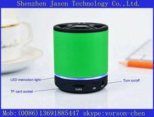 round shaped mini portable best vibration bluetooth speakers subwoofer