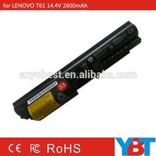 replacement laptop 14.4V 2600mAh battery for Lenovo ThinkPad T61 IBM ThinkPad T400 R61i R400 R61e battery
